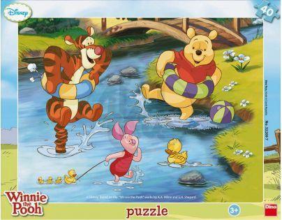 Dino Disney Puzzle deskové Medvídek Pú a vodní radovánky 40dílků