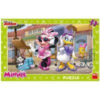 Dino Disney Puzzle deskové Minnie na Montmartru 15 dílků
