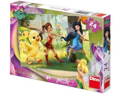 Dino Disney Puzzle Fairies a kuřátko 24 dílků