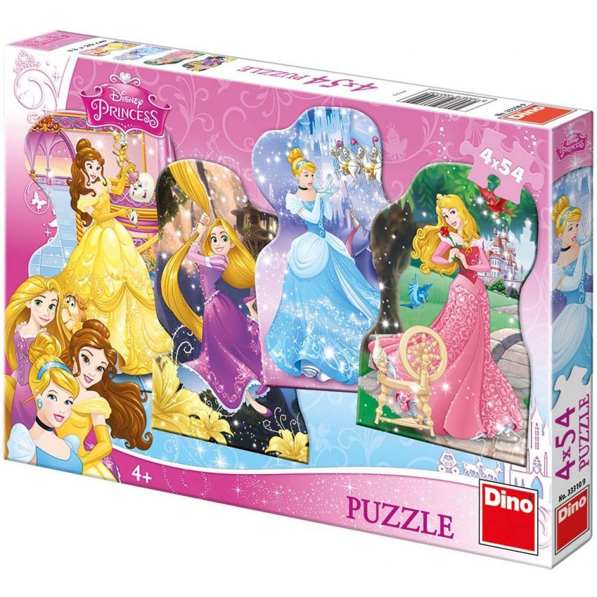 Dino Disney Puzzle Hravé princezny 4 x 54 dílků