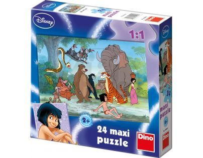 Dino Disney Puzzle Maxi Kniha džunglí Mouse 24 dílků