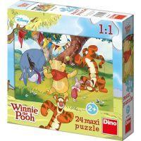 Dino Medvídek Pú Puzzle Maxi Medvídek Pú a kamarádi 24dílků