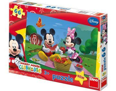 Dino Disney Puzzle Mickey Mouse na pikniku 66 dílků