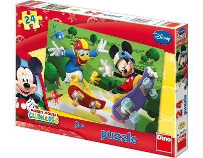 Dino Disney Puzzle Mickey na skateboardu 24 dílků