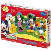 Dino Disney Puzzle Mickeyho klubík 4 x 54 dílků