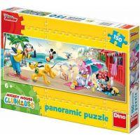 Dino Disney Puzzle Panoramic Mickey Mouse Club House 150 dílků