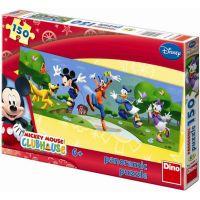Dino Disney puzzle panoramic Mickyho klubík Hurá 150 dílků