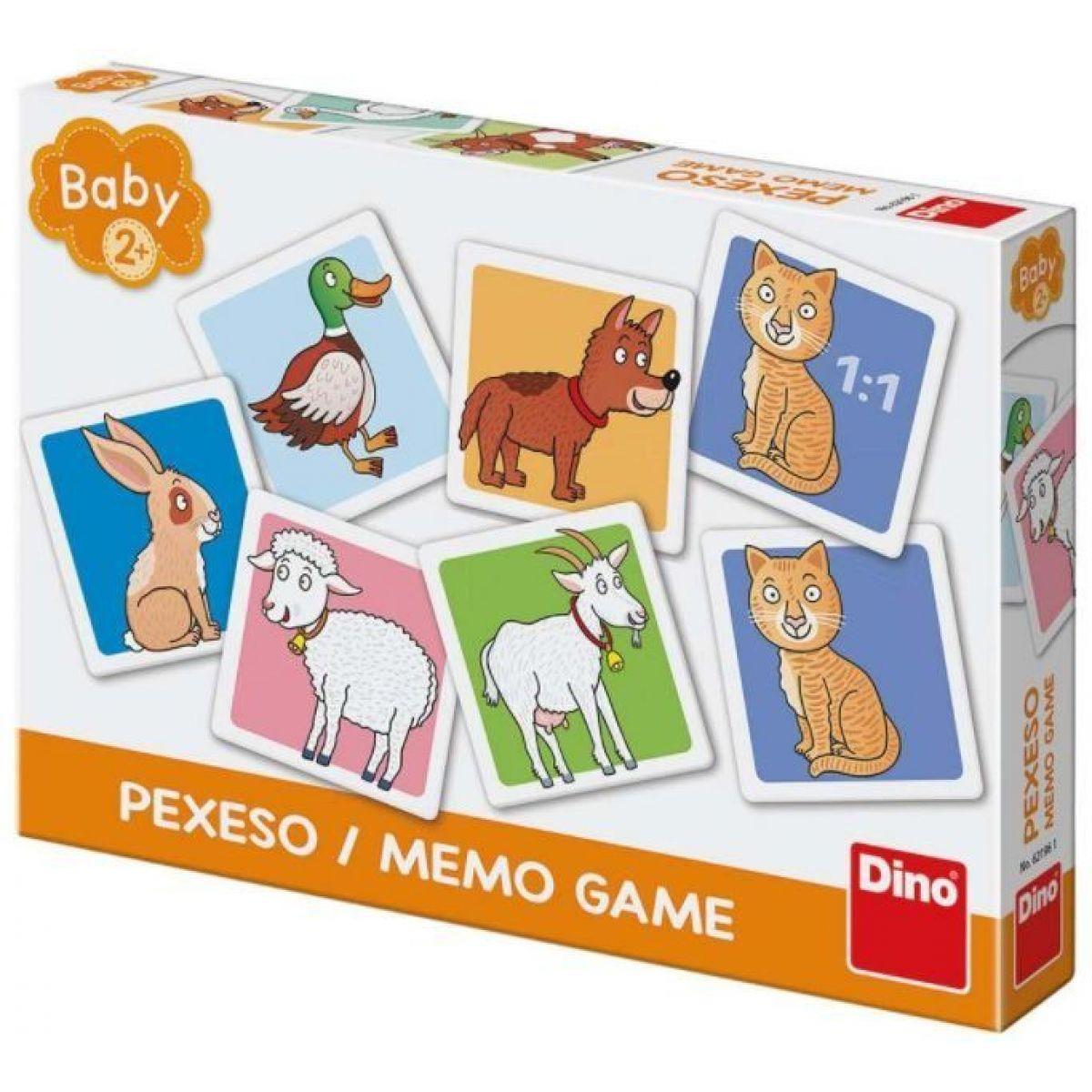 Dino Domácí zvířátka baby pexeso