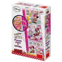 Puzzle Dětský metr Minnie + lepidlo 150 dílků v krabici (DINO 422056)