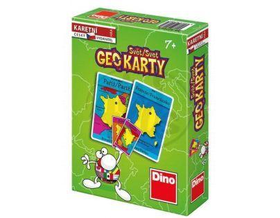 Geo Karty - Svět společenská hra v krabičce (DINO 6664)