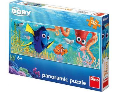 Dino Hledá se Dory Puzzle Panoramic Dory na cestách 150 dílků