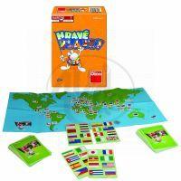 Hravé vlajky společenská hra v krabičce (DINO 6657)