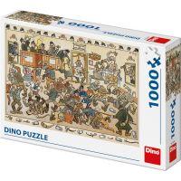 Dino Josef Lada Rvačka v hospodě 1000 dílků puzzle