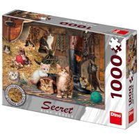 Dino Kočičky secret collection puzzle 1000 dílků