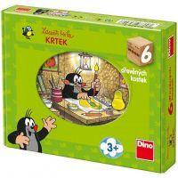 Dino 643093 - Kostky Krtek a přátelé dřevo (6ks)
