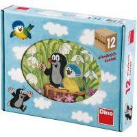 DINO 641129 - Kostky Krtek a ptáček (12 ks)