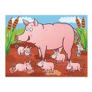 Dino Kostky kubus Domácí zvířátka dřevo 12 ks 2