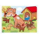 Dino Kostky kubus Domácí zvířátka dřevo 12 ks 4