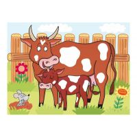 Dino Kostky kubus Domácí zvířátka dřevo 12 ks 6