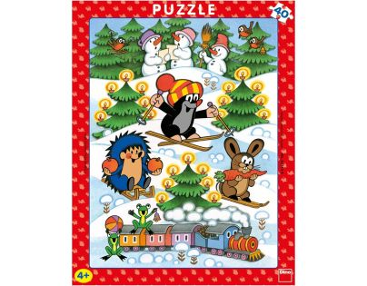 Dino Krteček Puzzle deskové Krtek na sněhu 40 dílků