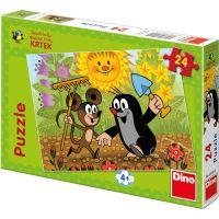 Dino Krteček Puzzle Krtek a myška 24 dílků
