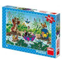 Dino Krtečkova plavba XL puzzle 100 dílků