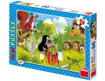 Dino Krteček Puzzle Krtek a koláček 66 dílků