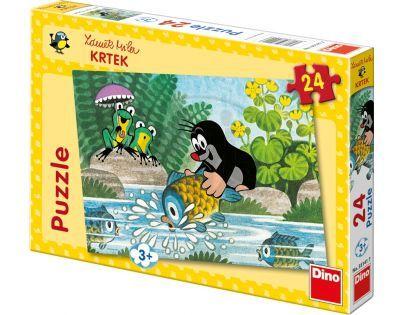 Dino Krteček Puzzle Krtek a rybka 24 dílků