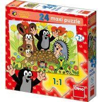 Dino Krteček Puzzle Maxi Krtek na krtině 24dílků