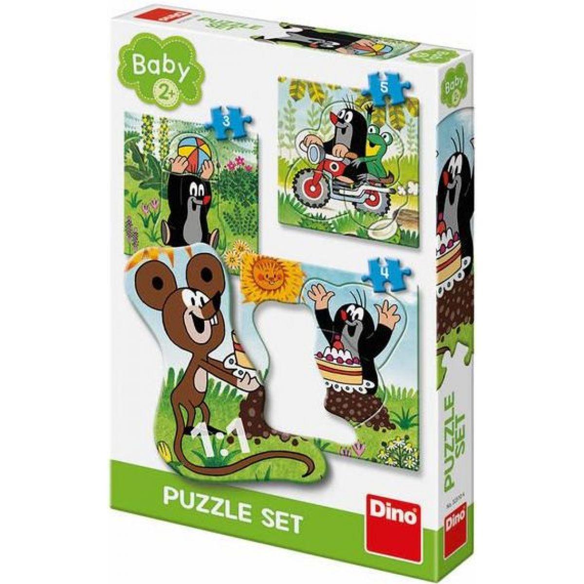 Dino Krtek na louce baby puzzle set