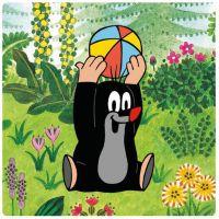 Dino Krtek na louce baby puzzle set 2
