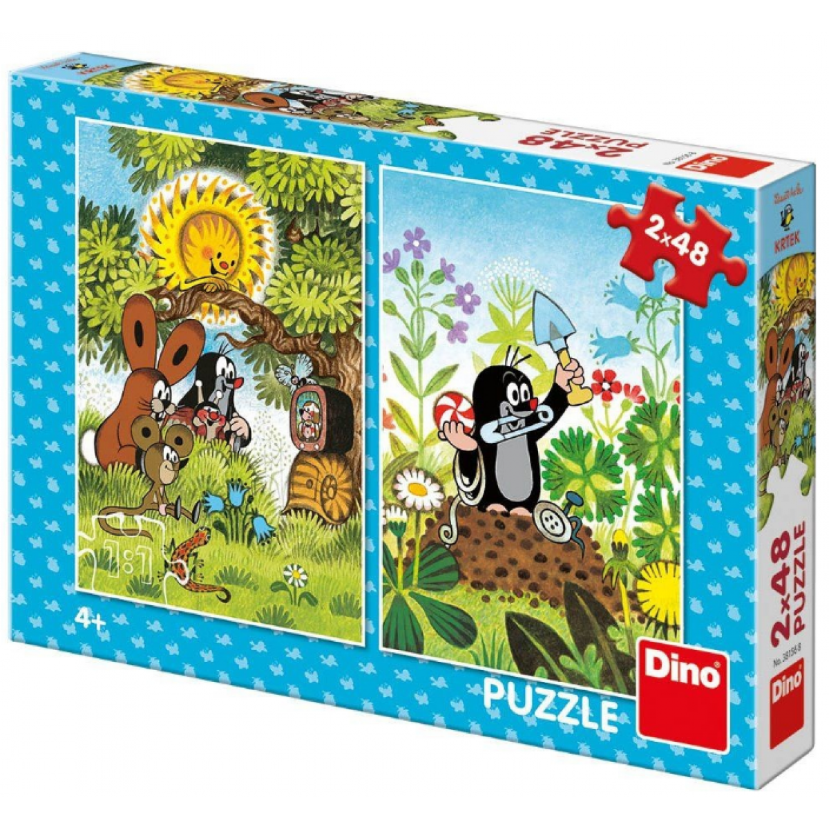 Dino Krtko Puzzle 2 x 48 dielikov