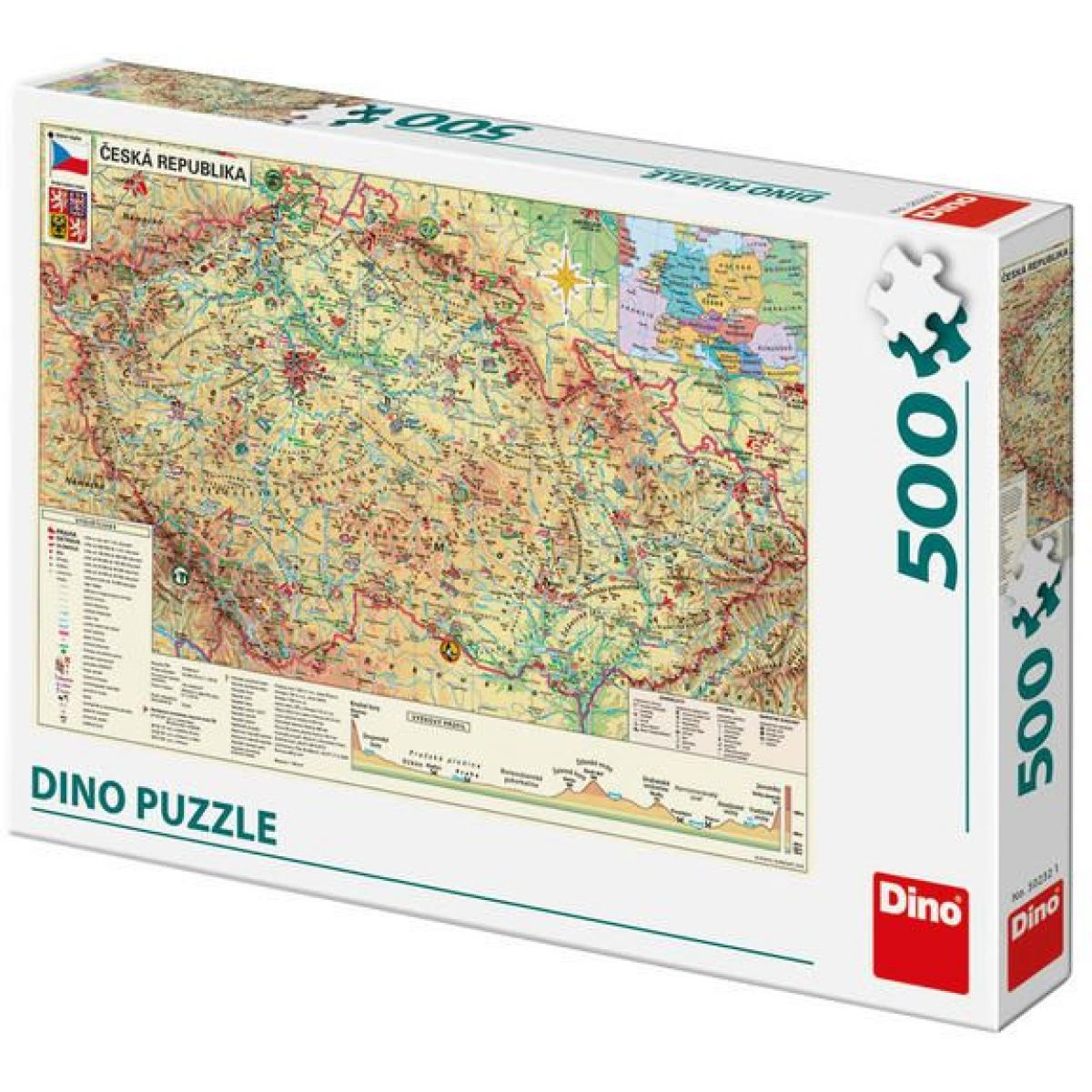 Dino Mapa české republiky puzzle 500 dílků