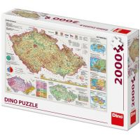Dino Mapy České republiky puzzle 2000 dílků
