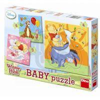 Dino Medvídek Pú Baby Puzzle