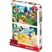 Dino Mickey sportuje 2 x 66 dílků dílků puzzle