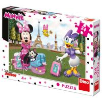 Dino Minnie v paříži puzzle 24 dílků