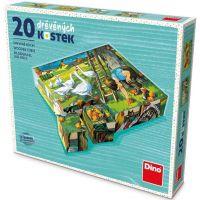 Dino Na Statku dřevěné kostky 20 ks