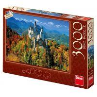Dino Neuschwanstein na podzim puzzle 3000 dílků