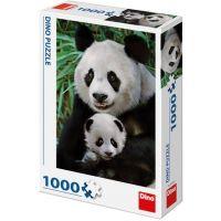 Dino Pandí rodina puzzle 1000 dílků