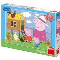 Dino Puzzle Peppa Pig Slepičky 24 dílků