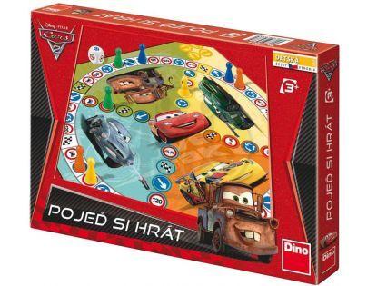 Dino 21623330 - Pojeď si hrát- Cars 2, společenská hra v krabici- 33x23x3,5cm