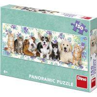 Dino Puzzle Psi a kočky Panoramic 150 dielikov 2