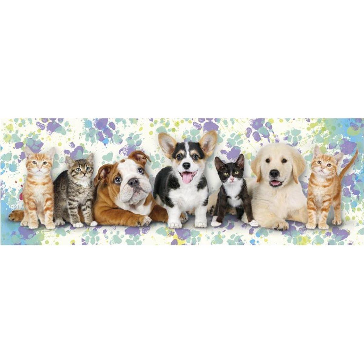 Dino Puzzle Psi a kočky Panoramic 150 dielikov