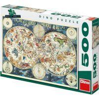 Dino Puzzle Astrologická mapa 500 dílků