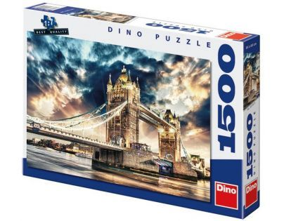 Dino Puzzle Bouře nad Tower Bridge 1500 dílků