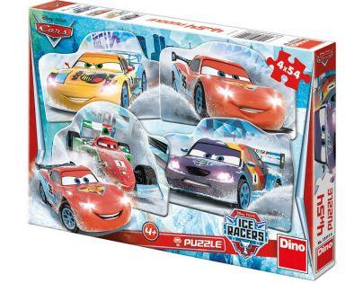 Dino Cars Puzzle Na ledě 4 x 54 dílků