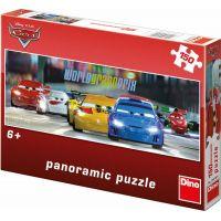 Dino Puzzle Cars Panoramic na okruhu 150 dílků