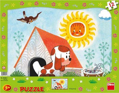 Dino Puzzle deskové Štěňátko 12 dílků