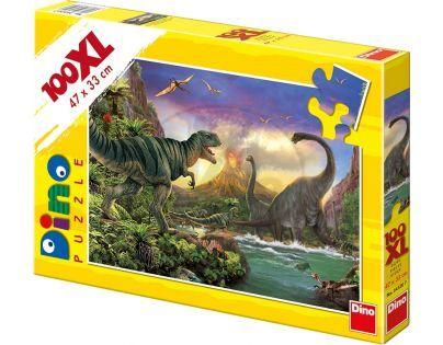Dino Puzzle Dinosauři 100 XL dílků